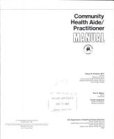 Community Health Aide practitioner Manual PDF