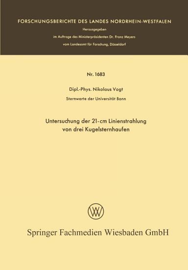 Untersuchung der 21 cm Linienstrahlung von drei Kugelsternhaufen PDF