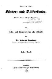 Allgemeine Länder und Völkerkunde: -3. Bd. Grundzüge der physikalischen Erdbeschreibung, 1837-38