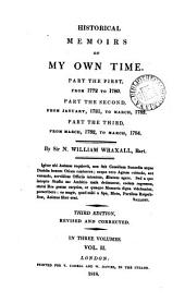 Historical memoirs of my own time ... From 1772 to ... 1784