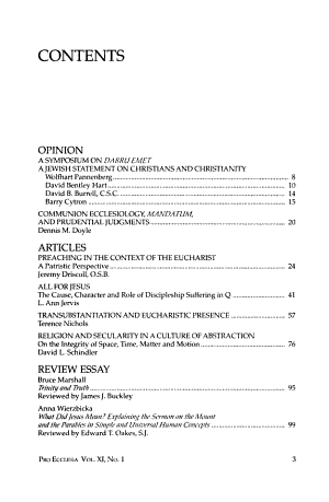 Pro Ecclesia PDF