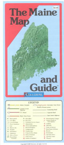 The Maine Map and Guide