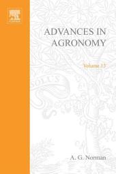 Advances in Agronomy: Volume 13