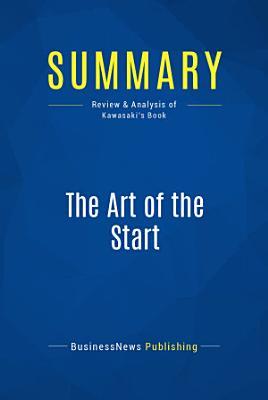 Summary  The Art of the Start