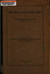 The Tories of the Upper Ohio