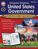 Interactive Notebook: United States Government Resource Book, Grades 5 - 8