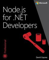 Node js for  NET Developers PDF