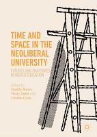 Time and Space in the Neoliberal University PDF