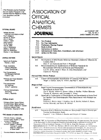 Journal of the Association of Official Analytical Chemists PDF