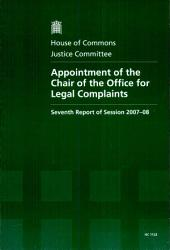 Appointment Of The Chair Of The Office For Legal Complaints Book PDF