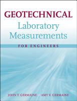 Geotechnical Laboratory Measurements for Engineers PDF