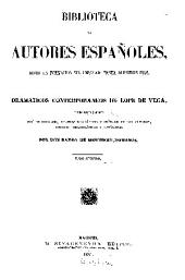 Dramaticos contemporaneos a Lope de Vega: Volumen 2