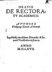 Oratio De Rectoratu Academico