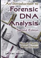 An Introduction to Forensic DNA Analysis  Second Edition PDF