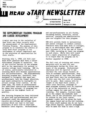 Head Start Newsletter