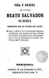 Vida y novena del glorioso Beato Salvador de Horta