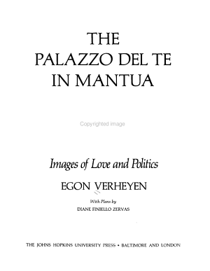 The Palazzo Del Te in Mantua PDF