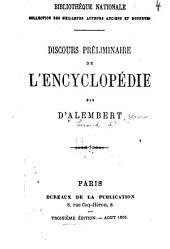 Discours préliminaire de l'Encyclopédie, par d'Alembert