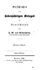 Geschichte des siebenjährigen Kriege in Deutschland: Band 2