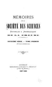 Mémoires de la Société des sciences naturelles et archéologiques de la Creuse, Guberet: Volume6