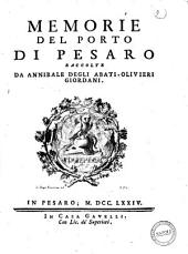 Memorie del porto di Pesaro raccolte da Annibale degli Abati-Olivieri Giordani