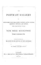 The portrait gallery of distinguished poets, philosophers, statesmen, divines, painters, architects, physicians, and lawyers, since the revival of art: with their biographies, Volume 1