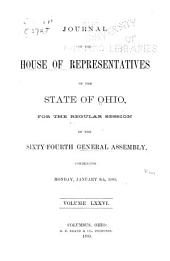 Journal of the House of Representatives ... General Assembly of Ohio ...: Volume 76