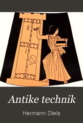 Antike Technik: sechs Vorträge