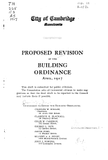Proposed Revision of the Building Ordinance  April  1917     PDF