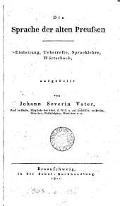Die Sprache der alten Preussen
