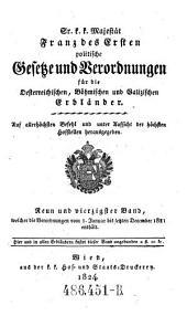 Welcher die Verordnungen vom 1. Januar bis letzten December 1821 enthält: Volume 49