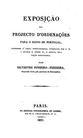 Projectos de ordenações para o reino de Portugal: Volume 2