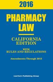 2016 California Pharmacy Law