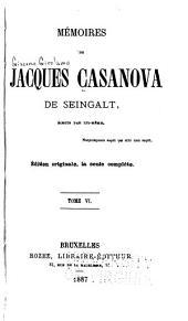 Mémoires de Jacques Casanova de Seingalt: Volume6