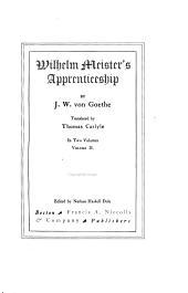 Wilhelm Meister's Apprenticeship: Volume 2