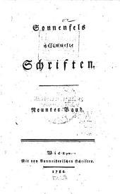 Sonnenfels gesammelte Schriften ...