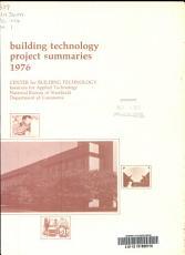Building Technology Project Summaries  1976 PDF