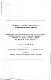 Report on the Ornithology of the Death Valley Expedition of 1891