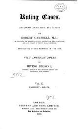 Ruling Cases: Volume 10