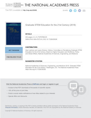 Graduate STEM Education for the 21st Century PDF