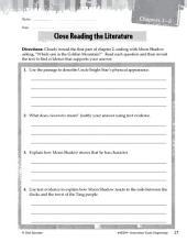Dragonwings Close Reading and Text-Dependent Questions