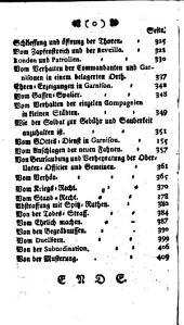 Verordnung Nach welcher die Churfürstl. Bayrische Infanterie die Exercitien zu machen, und sich sowohl im Feld, als in Besatzung zu verhalten hat