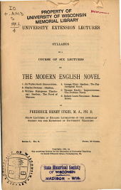 Syllabus of a Course of Six Lectures on the Modern English Novel