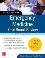 Emergency Medicine Oral Board Review  Pearls of Wisdom  Sixth Edition PDF