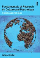 Fundamentals of Research on Culture and Psychology PDF