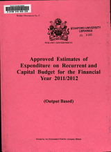 Approved Estimates of Expenditure on Recurrent and Capital Accounts for the Fiscal Year     PDF