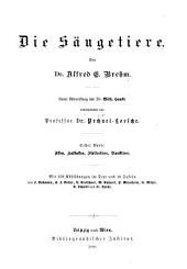 -3. bd. Die säugetiere, von dr. A. E. Brehm; unter mitwirkung von dr. W. Haacke. 1893-1900