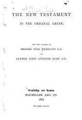 The New Testament in the original Greek