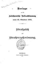 Vorlage an die solothurnische Volksabstimmung