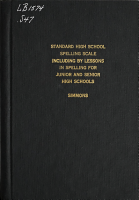 The Standard High School Spelling Scale PDF
